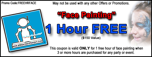 Free hour of face painting